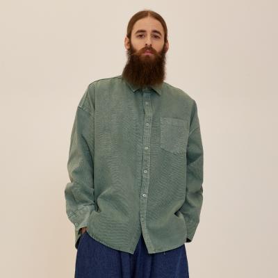 CB 아콘 피그먼트 셔츠자켓 (그린)