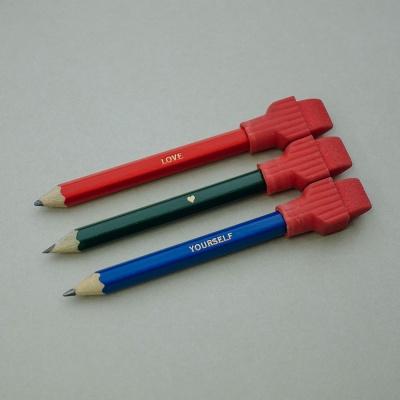 흑심 미니연필지우개캡세트(연필각인)