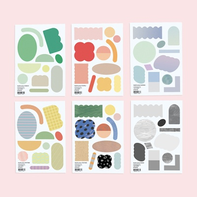 Block sticker set