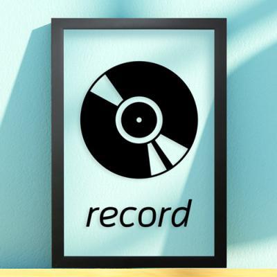 pb163-레코드_투명액자