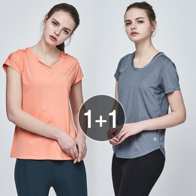 여성 운동복 티셔츠 TS7076 X TS7092 1+1 세트