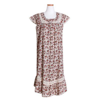 [쿠비카]민소매 라운드넥 플라워원피스 여성잠옷 W489