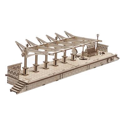 196피스 목재 입체퍼즐 - 유기어스 증기기관차 플랫폼