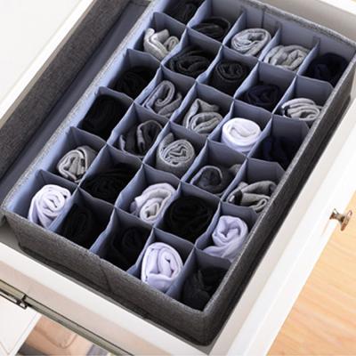 린넨폴리 덮개형 속옷 양말 수납 정리 보관함 칸막이