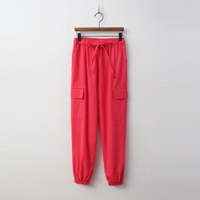 Linen Cargo Jogger Pants