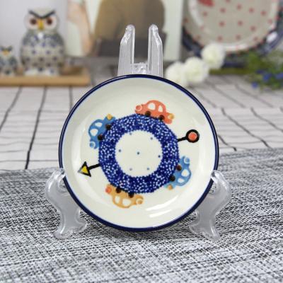 폴란드그릇 아티스티나 원형 접시 10cm 패턴1121
