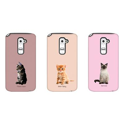 [듀얼케이스] Baby Cats (LG G2)