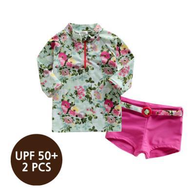 [래쉬가드] 블로썸집업래쉬가드(핫핑)_2PCS(UPF50+) 유아수영복 여아래쉬가드