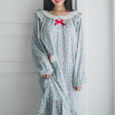 [쿠비카]플라워 언발 플레어 원피스 여성잠옷 W242