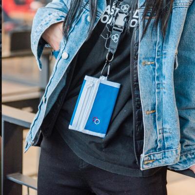 [로아드로아]ROIDESROIS - RETRO MINIME WALLET (BLUE) 지갑 3단지갑