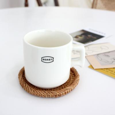 이너스 라탄 머그잔 컵받침