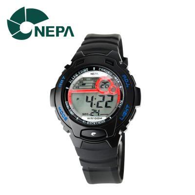 네파 여성용 아웃도어 디지털 시계 N318-BLACK 블랙