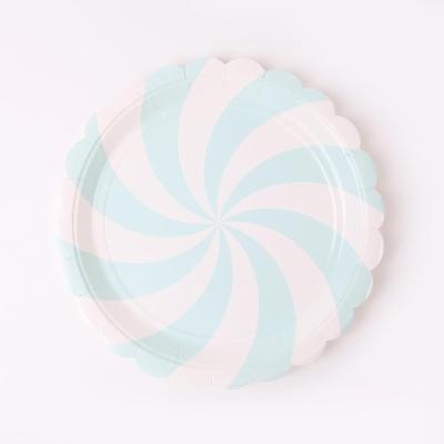 롤리팝 파티접시 18cm - 민트(6입)