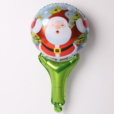크리스마스 손잡이 은박풍선 (허그산타)