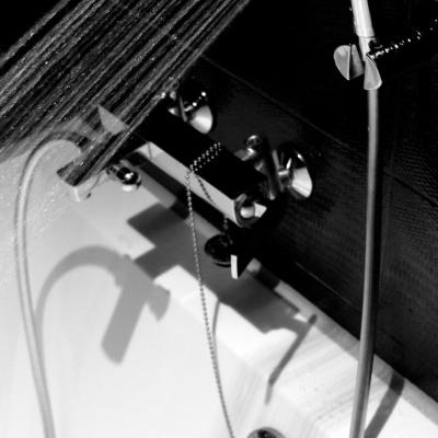 바스템 물때가 끼지않는 튜브형 샤워줄(그레이,블랙)