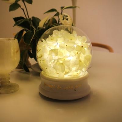 멜로디 수국 돔 LED 무드등