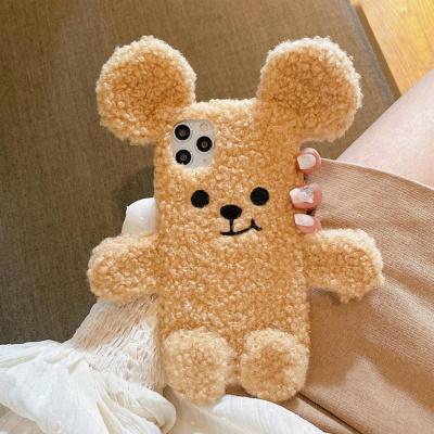 아이폰11 PRO SE2 XS 8 XR 입체 곰돌이귀 털 케이스