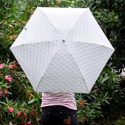 초경량 미니 호피무늬 5단 우산 /접이식 경량우산