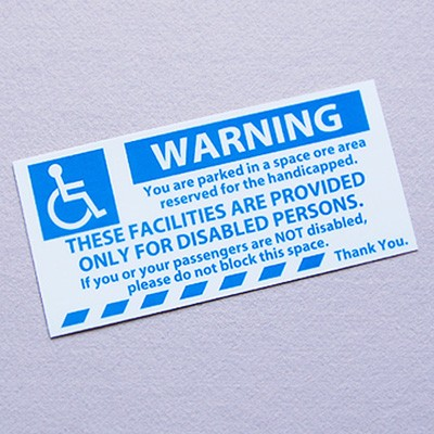 U.S. PS 스티커 Warning Disabled persons