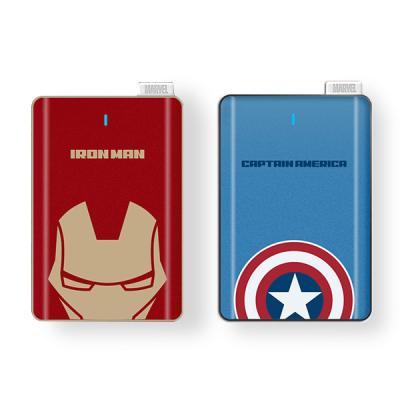 마블 캡틴아메리카 아이언맨 5000mAh 카드 보조배터리