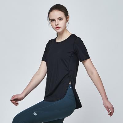 [메디테이션]TS7065 블랙 요가복 운동복 헬스 티셔츠