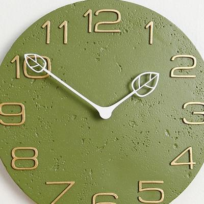노르딕 스타일 카이 저소음 벽시계 (그린) 시계 추카