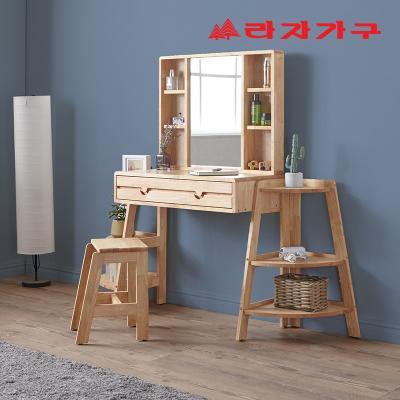 막시 원목 수납 거울 화장대 B형 + 화장대 의자