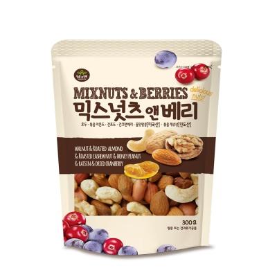 믹스넛츠앤베리 300g_호두 볶음아몬드 볶음캐슈넛 꿀맛땅콩 건포도 건크랜베리