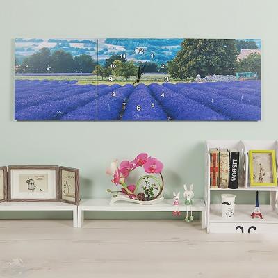 보랏빛 물결 병풍 벽시계(120cm)