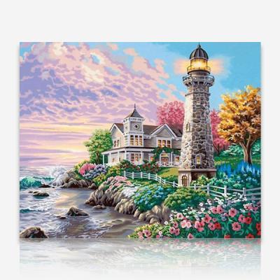 등대가 있는 해변의 집 DIY 십자수 비즈세트