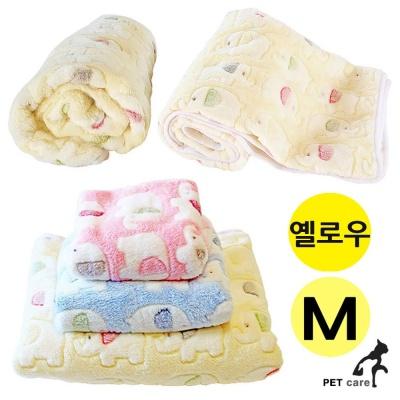 펫투유 우쭈쭈 엘리펀트 담요 (M) (옐로우)