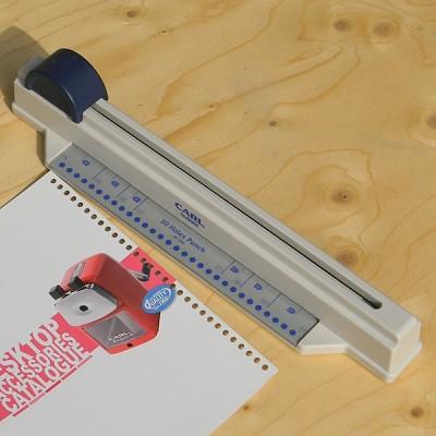 [CARL] 속지를 만들어 쓰세요..슬라이딩 방식의 일본 카알 루스리프 A4 30공 펀치 HB633-5
