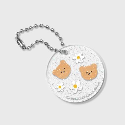 Dot flower bear(글리터키링)