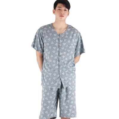 테라우드 커플잠옷 남성용 레이온 상하 러블리쿠션