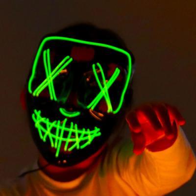 할로윈 그린 LED마스크