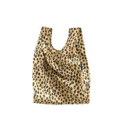 [바쿠백] 소형 베이비 에코백 장바구니 Honey Leopard
