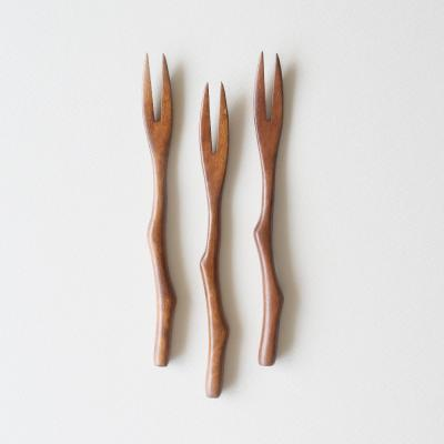 롬우드 로즈원목 나뭇가지 티포크