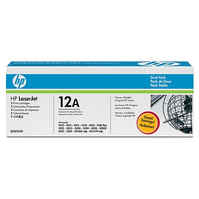 HP Q2612A*2EA Dual Pack 토너