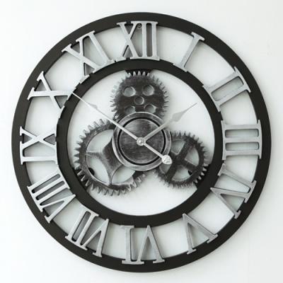 클래식 원형 로마숫자 벽시계(실버)
