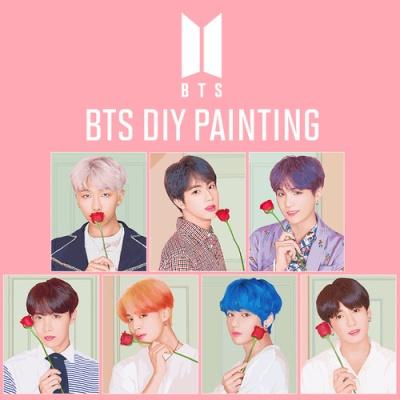 BTS V DIY PAINTING 방탄소년단 뷔 DIY 그리기 아이러브페인팅