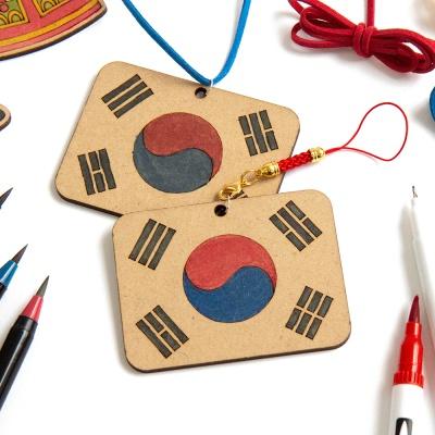 우드팬시 태극기만들기 미술재료 KDPWD0280