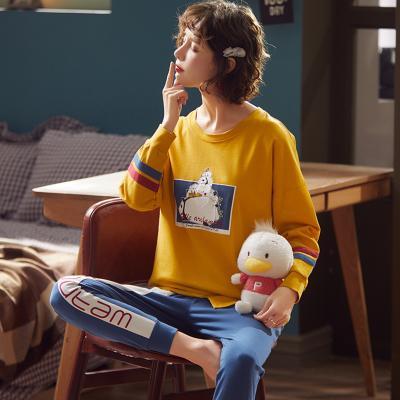 메리핀 팬더 맨투맨 순면 잠옷 세트 홈웨어 이지웨어