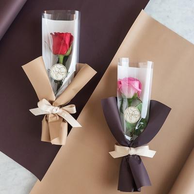 장미한송이에 담긴 사랑 로즈한송이꽃다발[낱개상품]