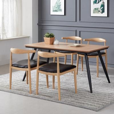 토바 무늬목 식탁 세트B 1400 + 의자 4개포함