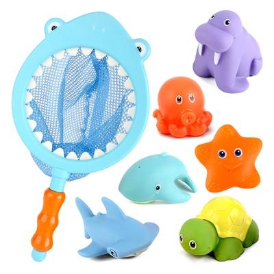 그물 뜰채 유아 낚시 목욕놀이 물놀이 장난감 상어