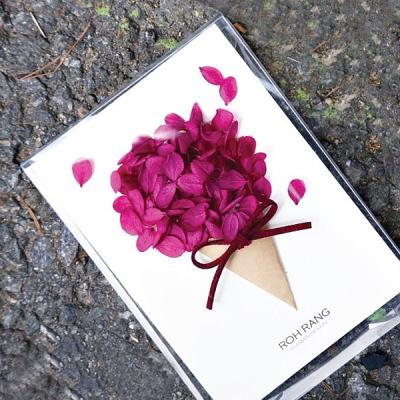로랑 드라이플라워 생일축하카드 엽서 선물 (수국콘)