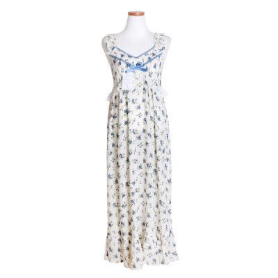 [쿠비카]플라워 민소매 원피스 여성잠옷 W478