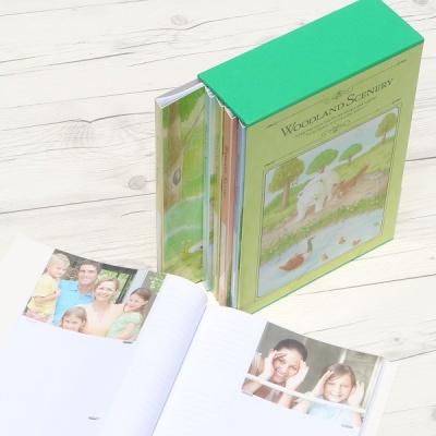 [Nakabayashi] 백일,돌,생일선물에는..480장수납 5권/팩...나카바야시 3단 포켓앨범 Woodland Scenery HF481