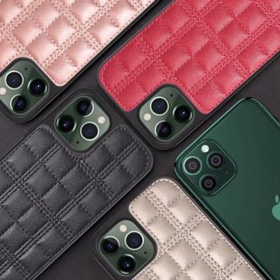 아이폰11프로 휴대폰줄 체인 스트랩 가죽 하드 케이스