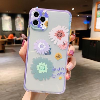 아이폰11 pro max 렌즈보호 플라워 프린팅 젤리케이스